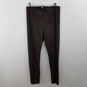 Lysse Leggings M Faux Suede Brown Stretch Workout
